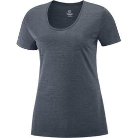 Salomon Agile Camiseta Manga Corta Mujer, gris